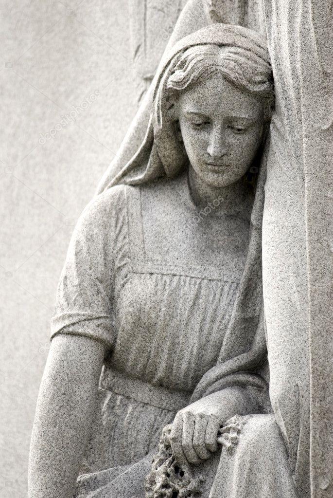 de del luto mujer estatua de cementerio SFRqnnZP