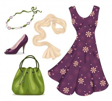 Romantic woman wardrobe.