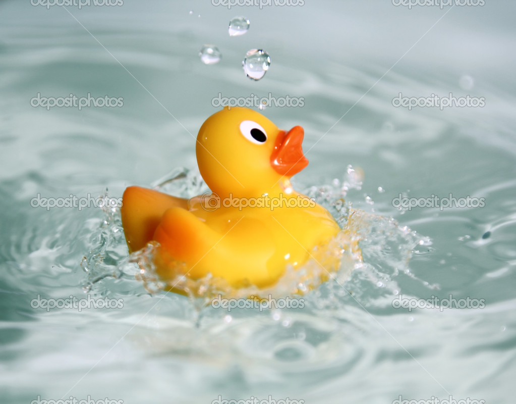 Blue rubber duck - photo#33