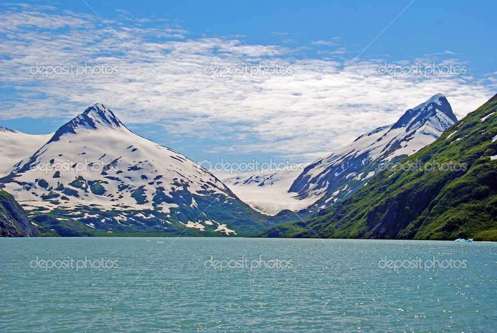 Glacial carved mountains in Alaska