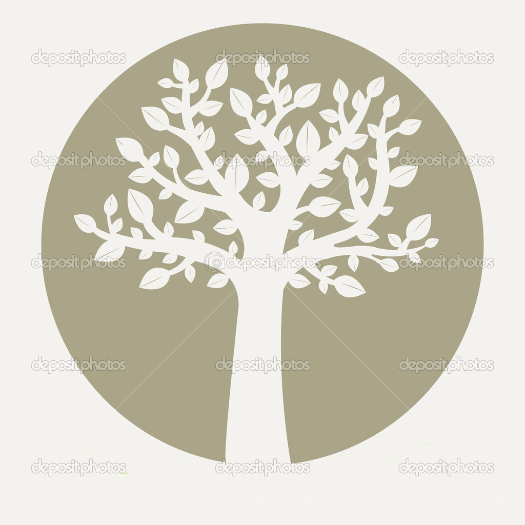 Tree On Grey