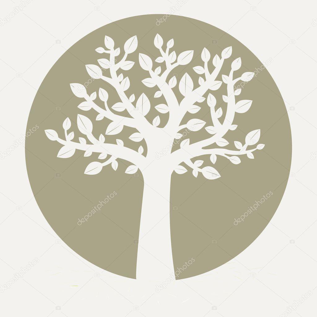 Tree On Grey