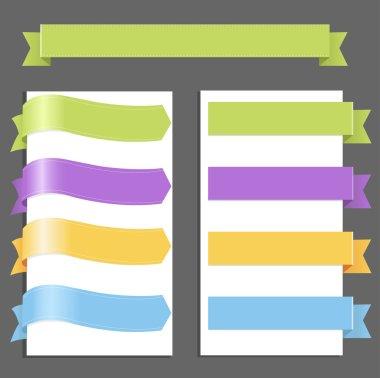 Set Pastel Ribbons
