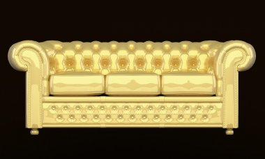 Luxury sofa with golden leather