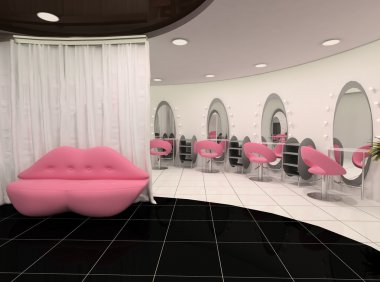 Outlook of stylish beauty salon