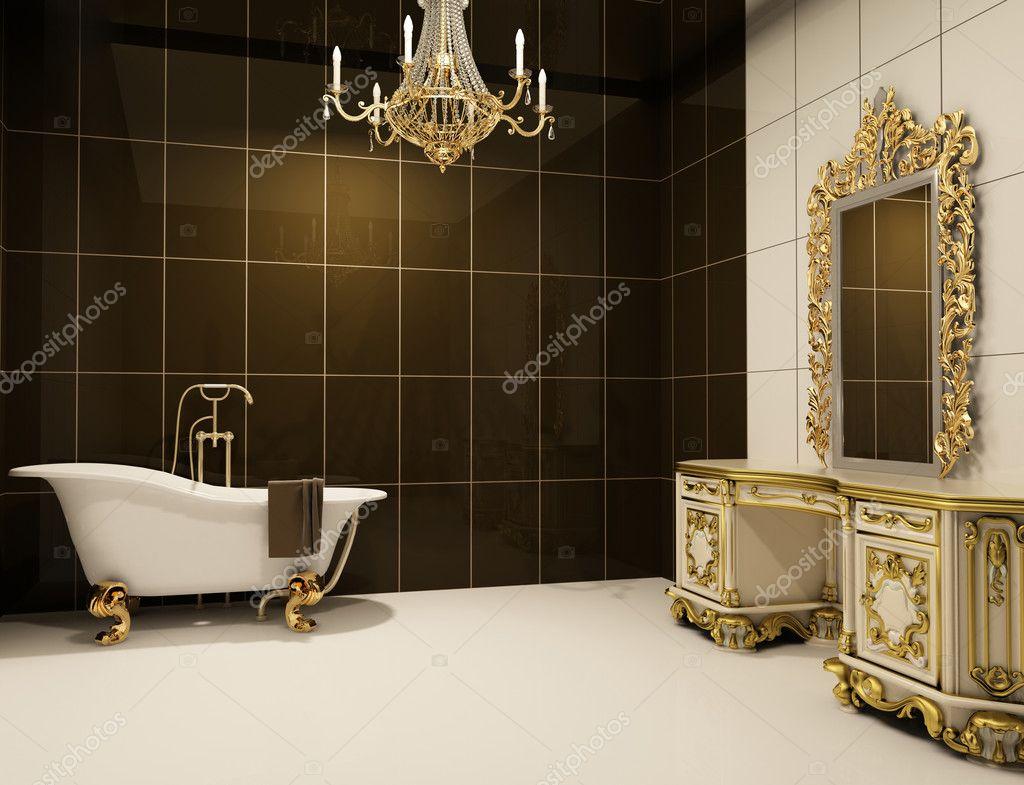 Badkamer Barok Meubels : Barok meubels in badkamer u2014 stockfoto © victoriaandrea #5555318