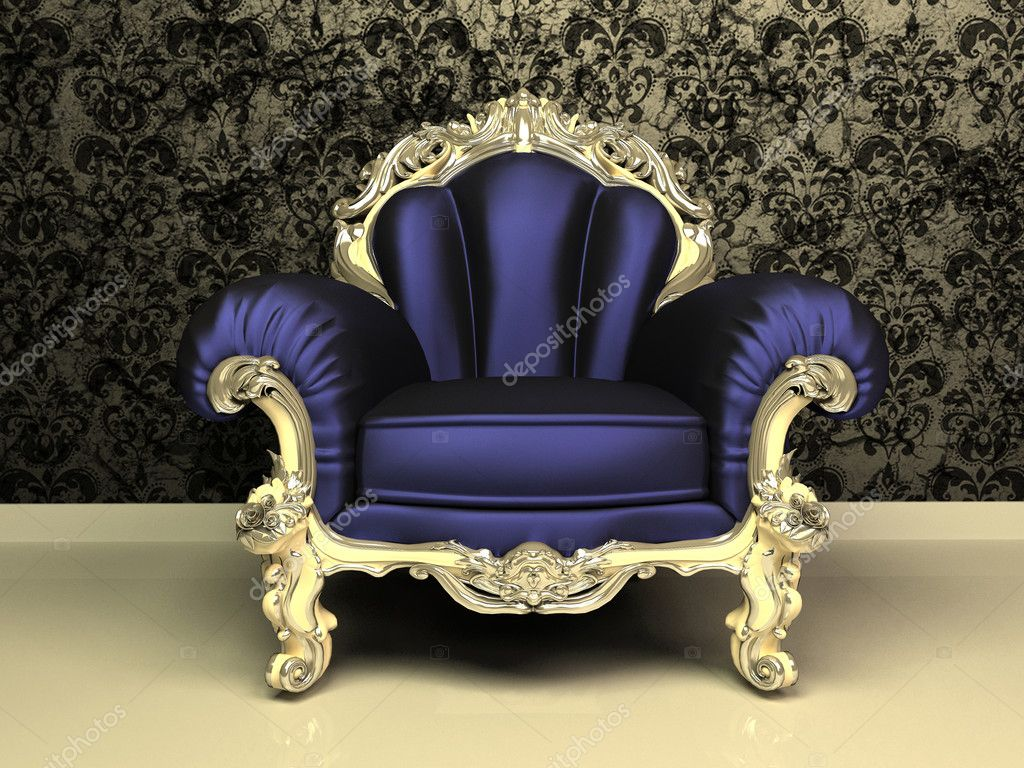 Modern baroque armchair with decorative frame in luxury for Decorative armchair