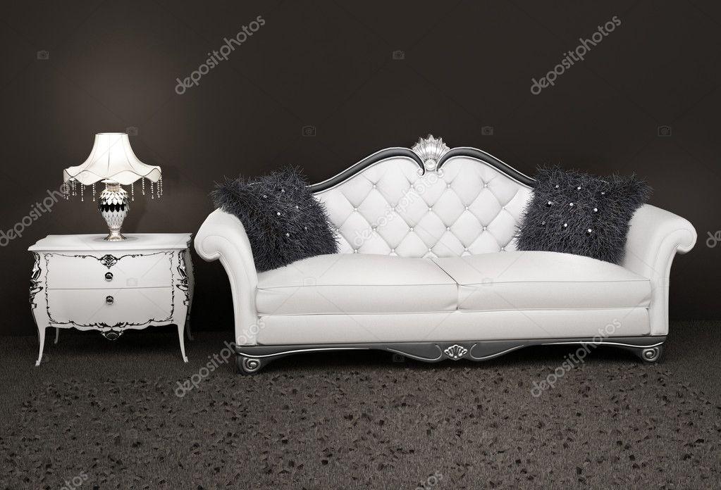 canap en cuir de luxe avec la lampe sur la table de chevet image de victoriaandrea - Canape Luxe