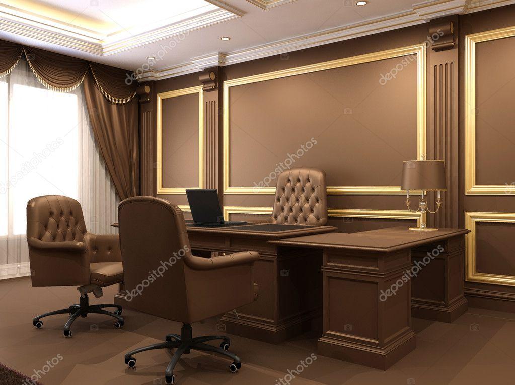 Interni moderni spazio ufficio mobili in legno in for Stock mobili ufficio