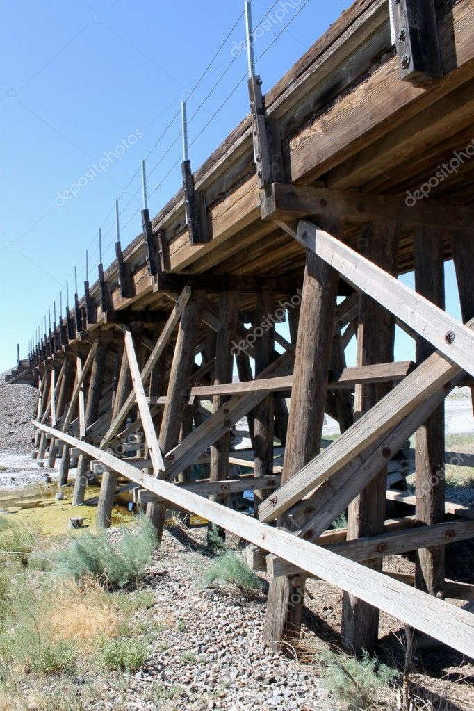 Wooden Railroad Crossing in Nevada — Stock Photo
