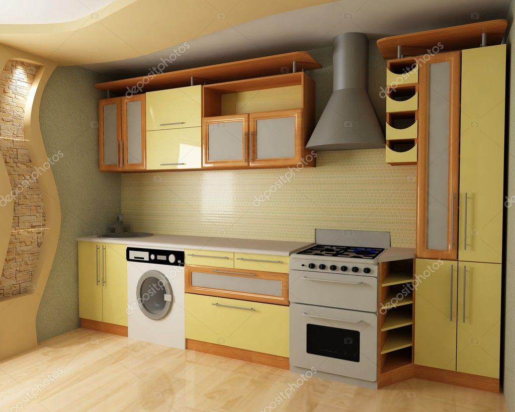 Gelbe Küche U2014 Stockfoto