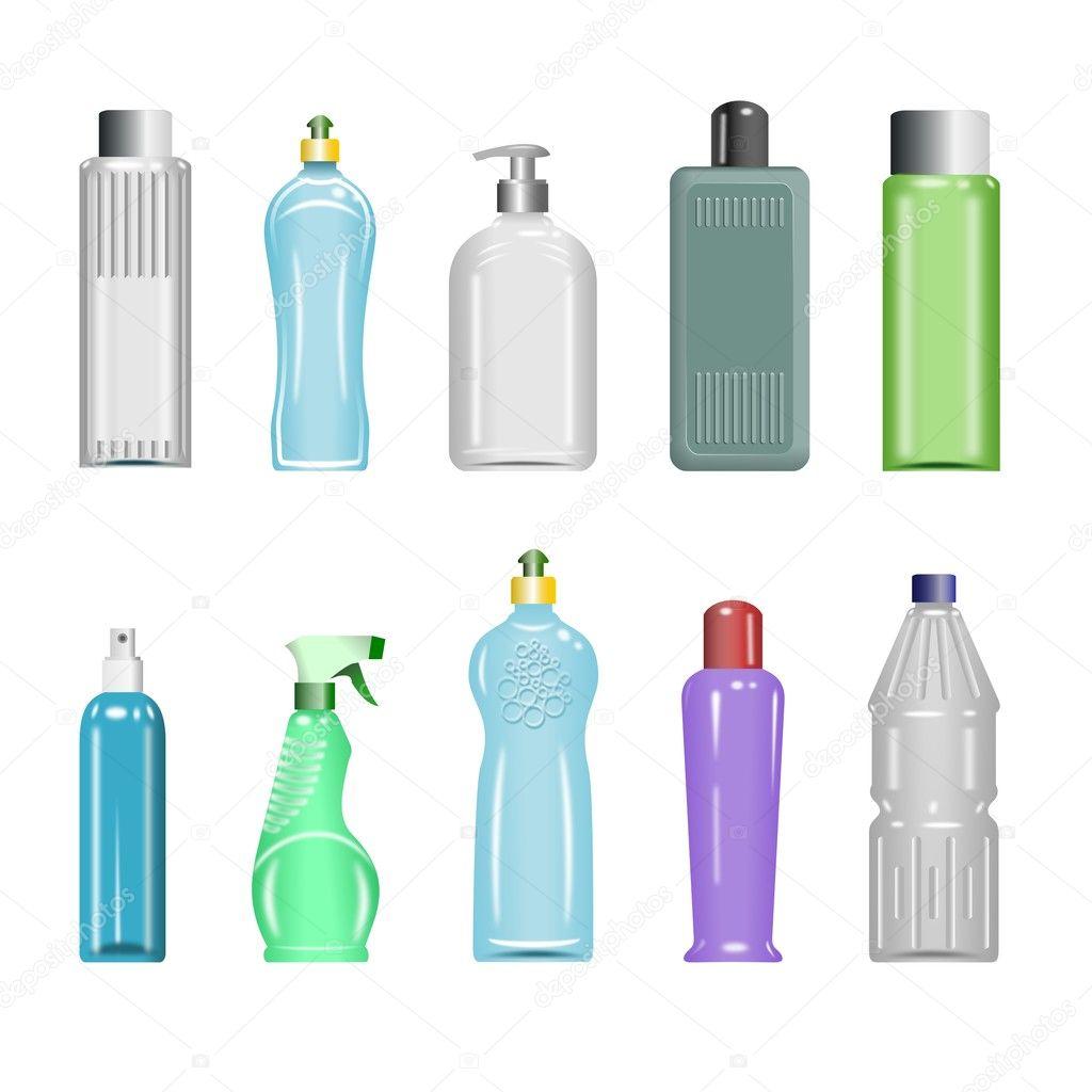 Plastic Bottles Set 5