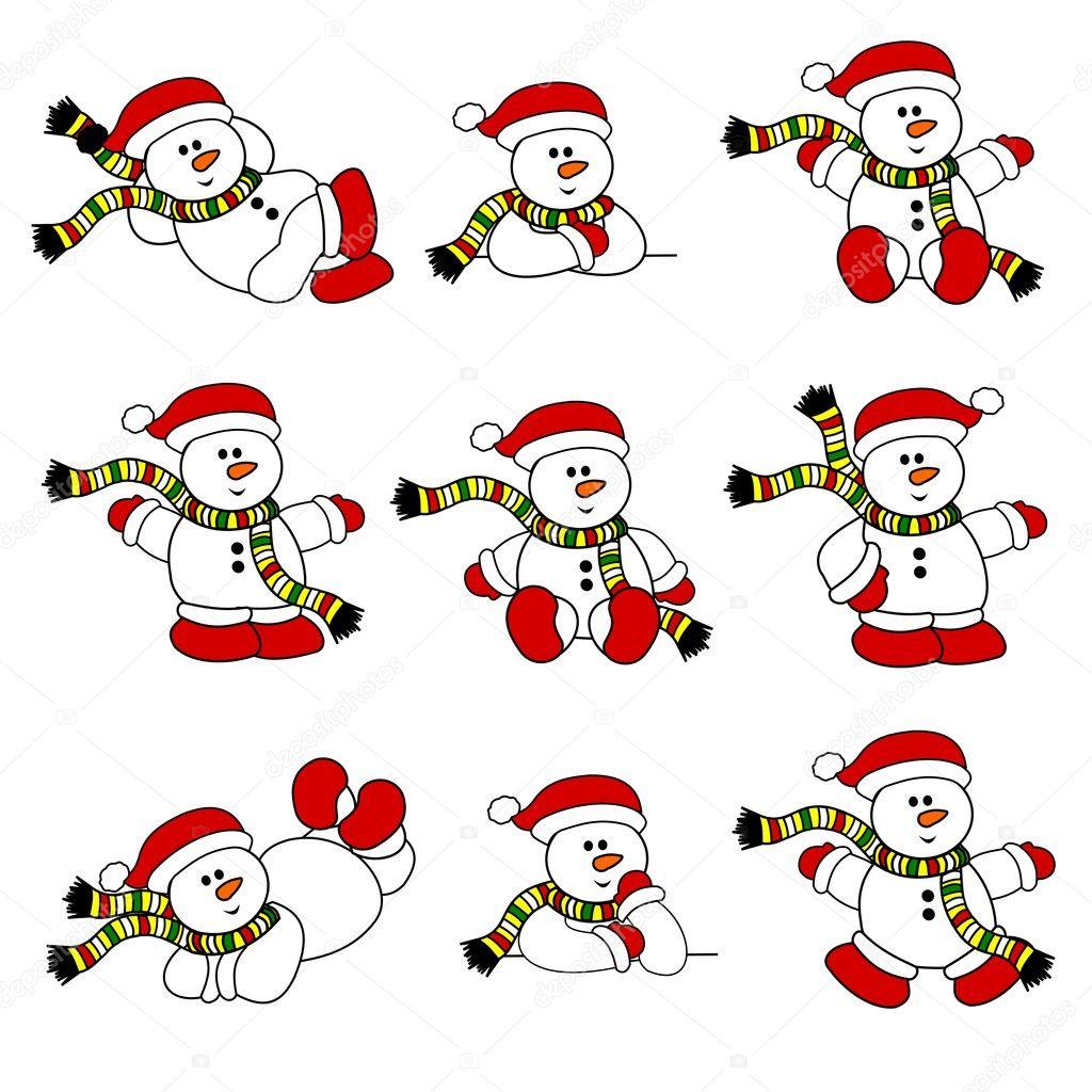 Cute Christmas Snowman Collection