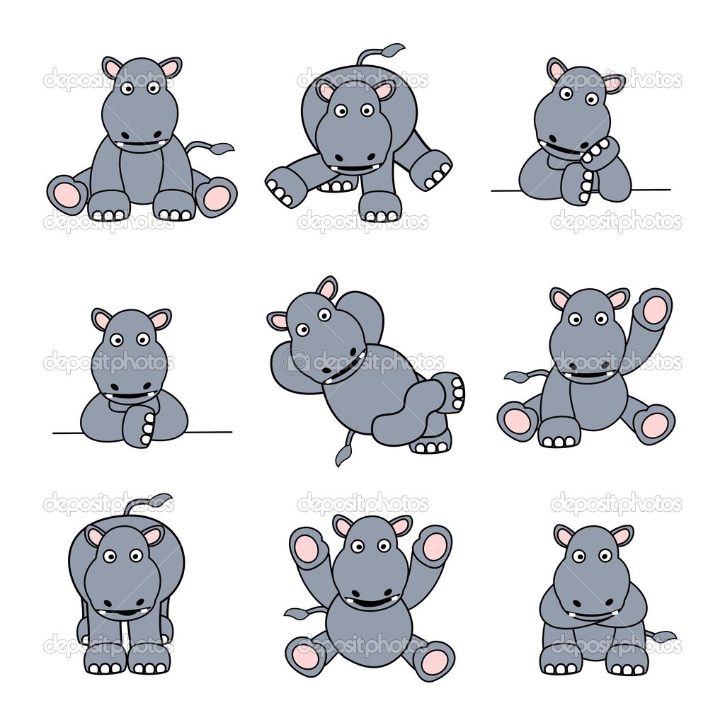 Cute Hippo Set
