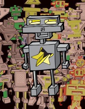 Funny Cartoon Robot (vector)