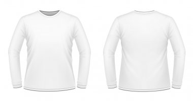 White long-sleeved T-shirt