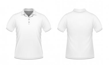 White men's polo shirt