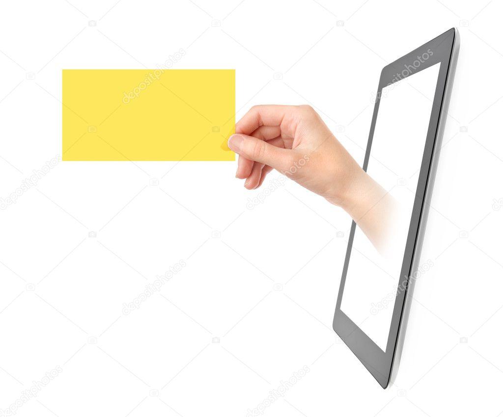 Affichage De Carte Visite Electronique Photo