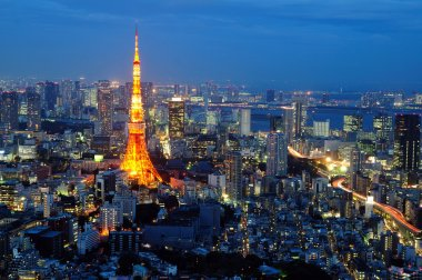 Tokyo tower in night