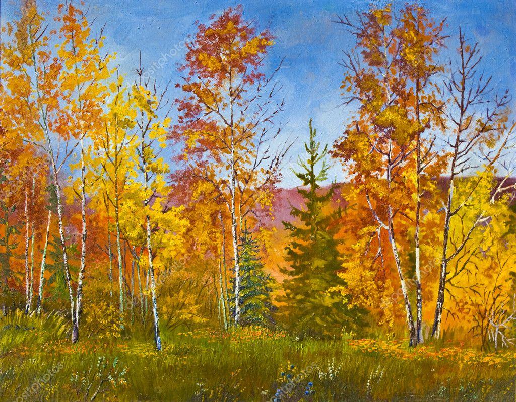 Autumn Landscape Oil Painting Stock Photo 169 Afonskaya