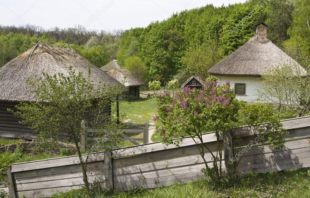 Unikalne wieś domy na Ukrainie — Zdjęcie stockowe © Afonskaya #6505381 XR76