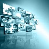 Fényképek televíziós és internetes gyártási technológia koncepció