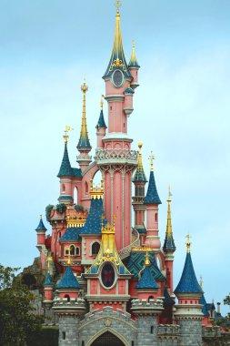 The castle of Aurora in Paris Disneyland
