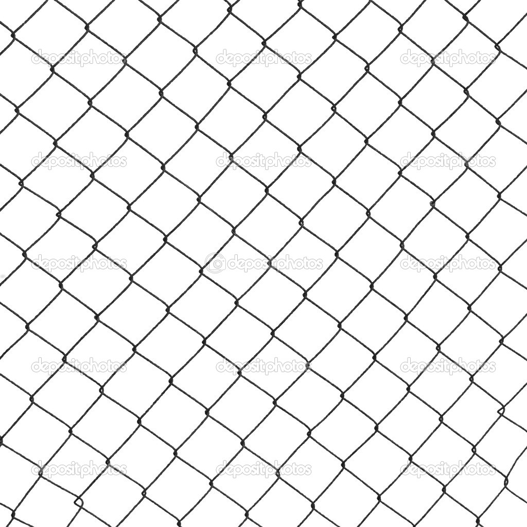 Metal wire fence protection isolated on white background — Stock ...