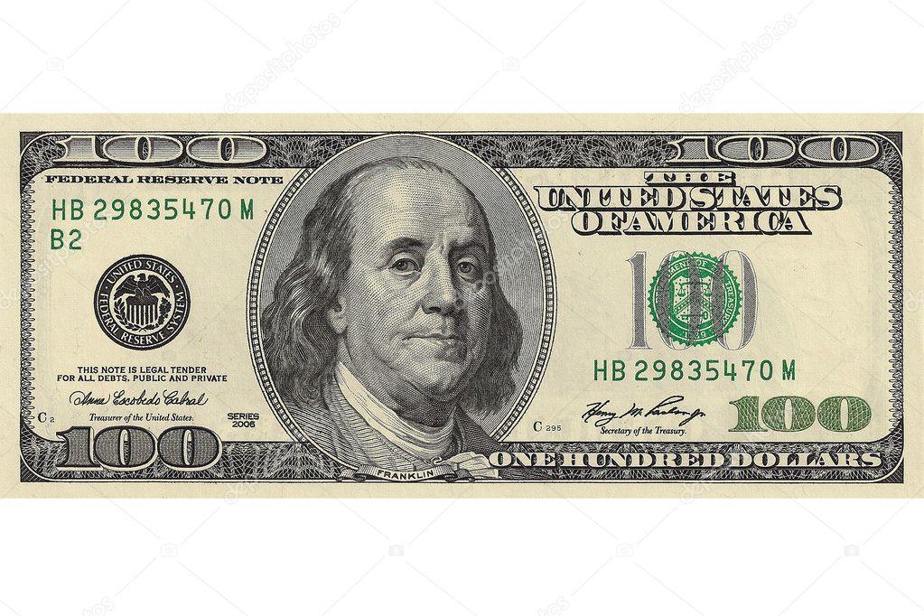 Hundert Dollar Schein