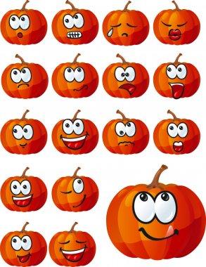Vector set of halloween pumpkins