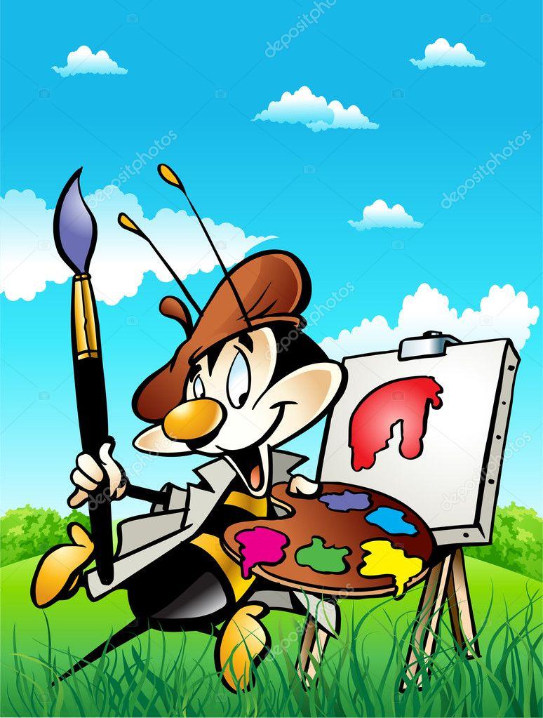 Bee - painter