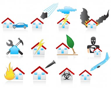 House disaster icons