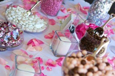 Wedding Reception Candy Table.