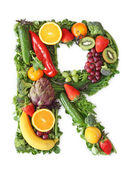 Fotografie Fruit and vegetable alphabet