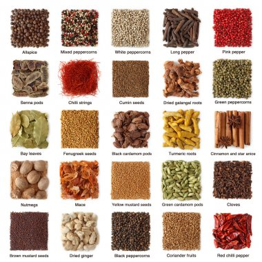 Indian spices collection