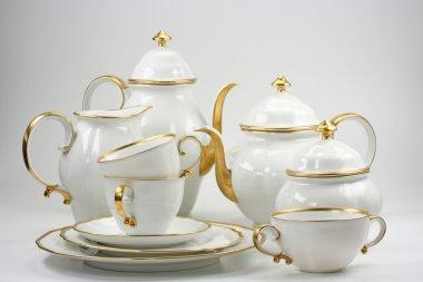 White tea service