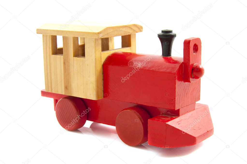 Red toy train