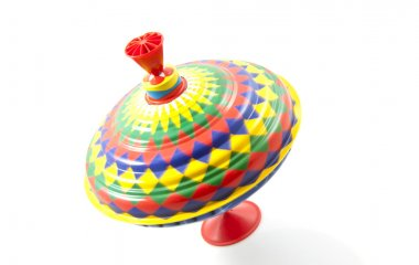 Vintage colorful spinning top