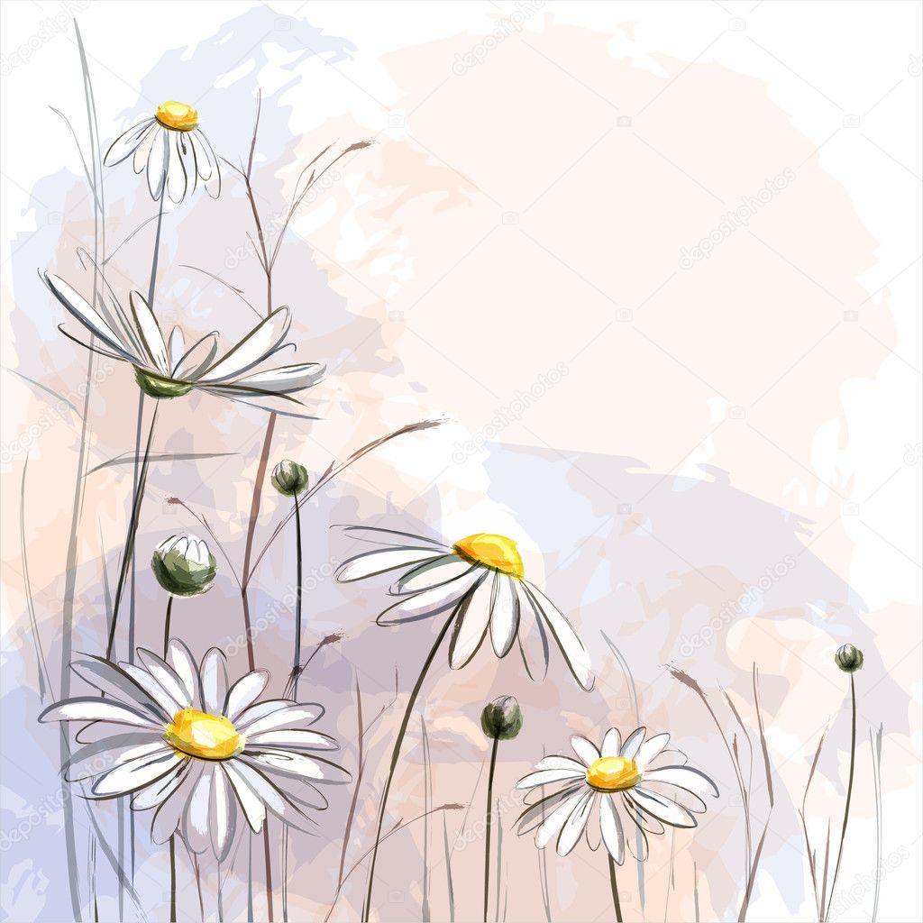 Flower romantic background