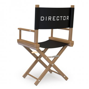 Film director's chair back view