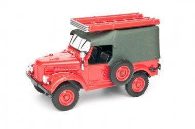 Model old fire truck