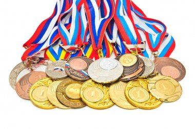 Sports Medal of the Russian Federation. Isolated on white backgr