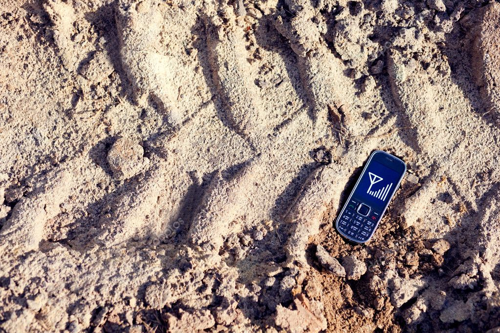Cell phone on tread
