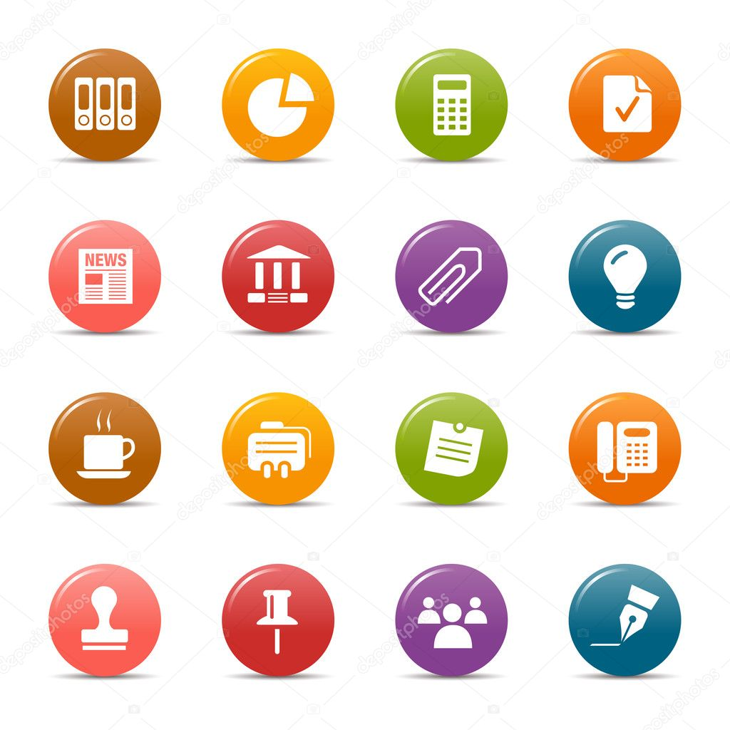 Colored dots - Office and Business icons