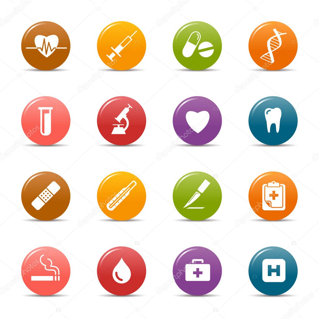 Colored dots - medical icons