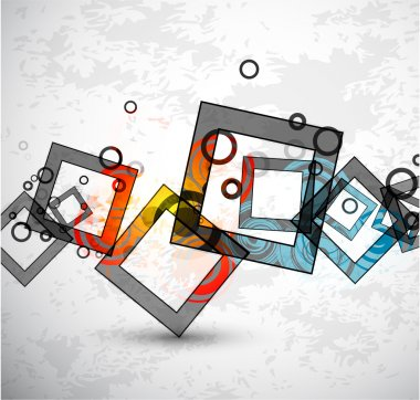 Abstract grunge squares. Vector background