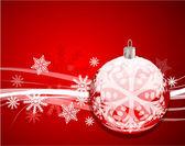 Piros karácsonyi vektor háttér
