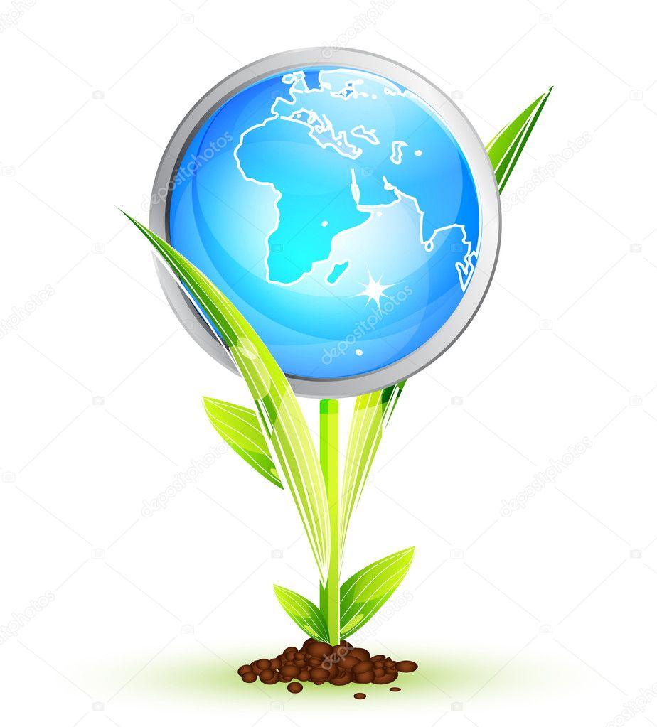 Vector Earth globe conceptual background