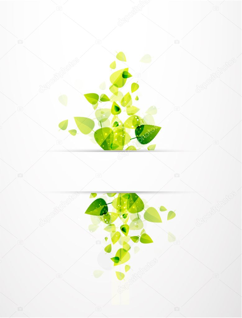 Abstract leaves. Nature vector background