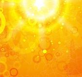 Vektorová oranžové lesklé pozadí